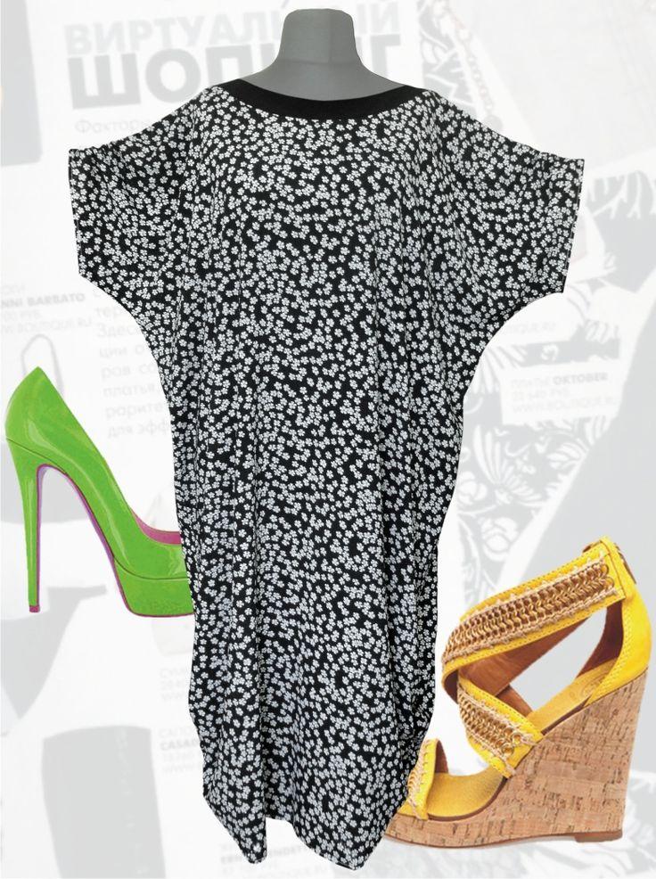 33$ Платье свободного покроя для полных женщин из шифона-поплина в мелкий цветочек с короткими раздвинутыми рукавами Артикул 685, р50-64 Платья больших размеров  Платья свободного кроя больших размеров Платья в мелкий цветочек больших размеров  Платья в пол больших размеров  Летние платья больших размеров Платья макси больших размеров  Платья в мелкий цветочек больших размеров Шифоновые платья больших размеров Длинные платья больших размеров  Платья свободные больших размеров