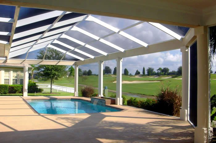 My Sister Moved Into A New Home Recently And Wants To Get A Custom Pool Enclosure Like This One She Loves That This Pool Enclosures Pool Pool Screen Enclosure
