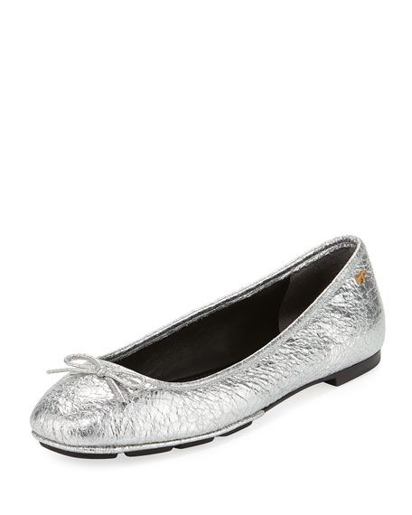 59d2538c7fb0a Laila 2 Metallic Leather Driver Ballet Flat by Tory Burch at Neiman Marcus  My Money