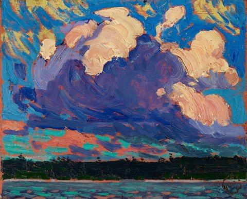 Tom Thomson - Evening Cloud, 1915