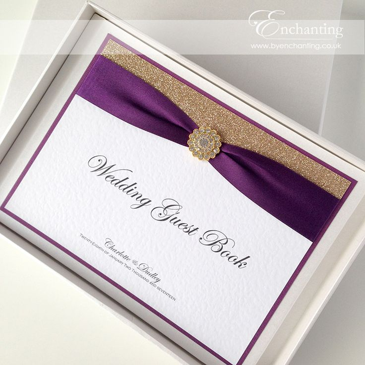 Gold And Purple Wedding Stationery From The CInderella Collection