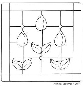 Free Country Flowers Pattern - Window Panels - Delphi Glass