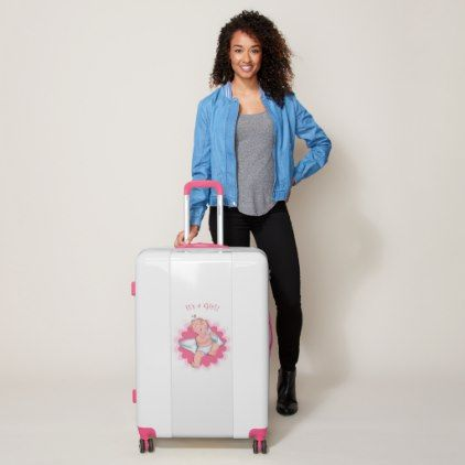 It's A Girl! Luggage - baby shower ideas party babies newborn gifts