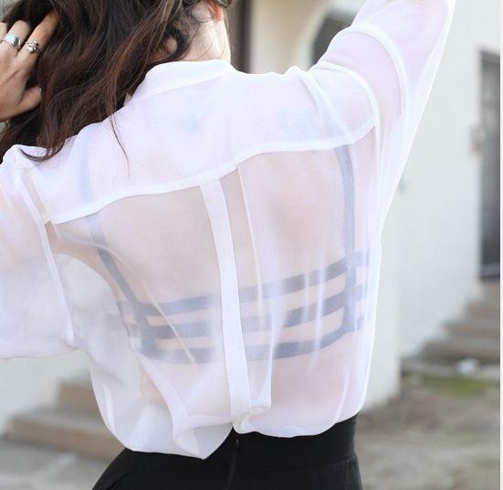 LOVE this bra underneath.   26 Fashion Rules You Should Break Immediately