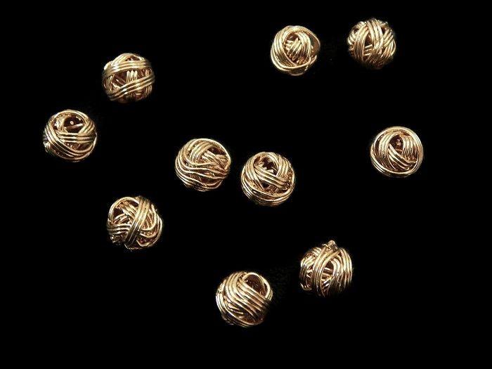 BNPCO8 Bola Nido de pájaro en chapa de oro 14k, diámetros 8mm, ideal para bisutería fina, precio x gramo $3.50 pesos, precio medio mayoreo (100 gramos)$3.40, precio mayoreo (250 gramos)$3.30, precio VIP(500 gramos) $3.20