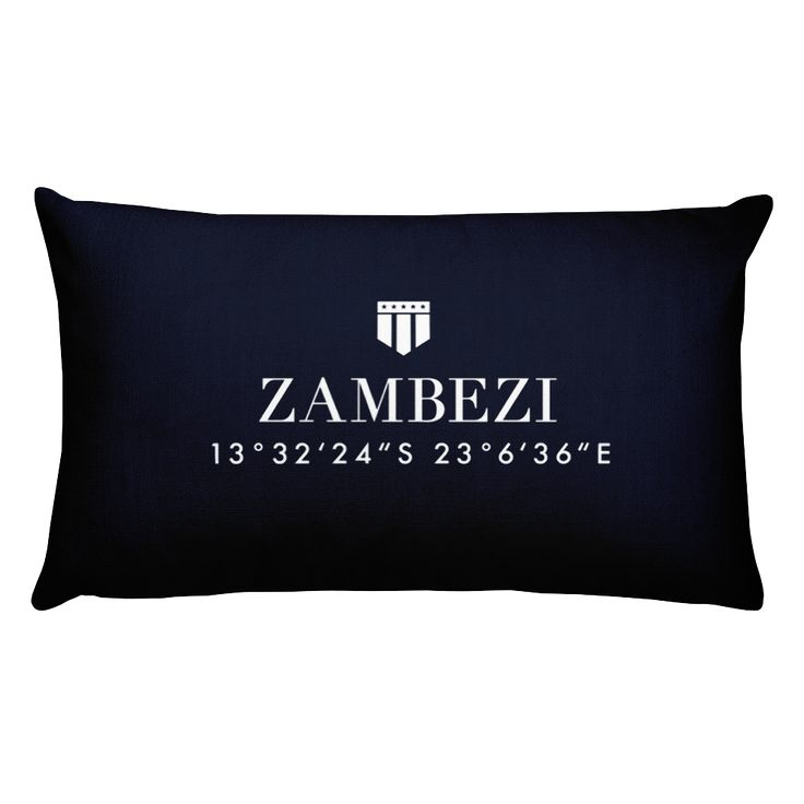 Zambezi, Africa Pillow with Coordinates