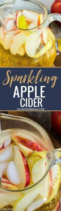 Sparkling Apple Cide Sparkling Apple Cider - An easy homemade...  Sparkling Apple Cide Sparkling Apple Cider - An easy homemade mix of apple juice concentrate and sparkling water for a no-fuss pretty drink to serve guests this fall season. Simple and swee