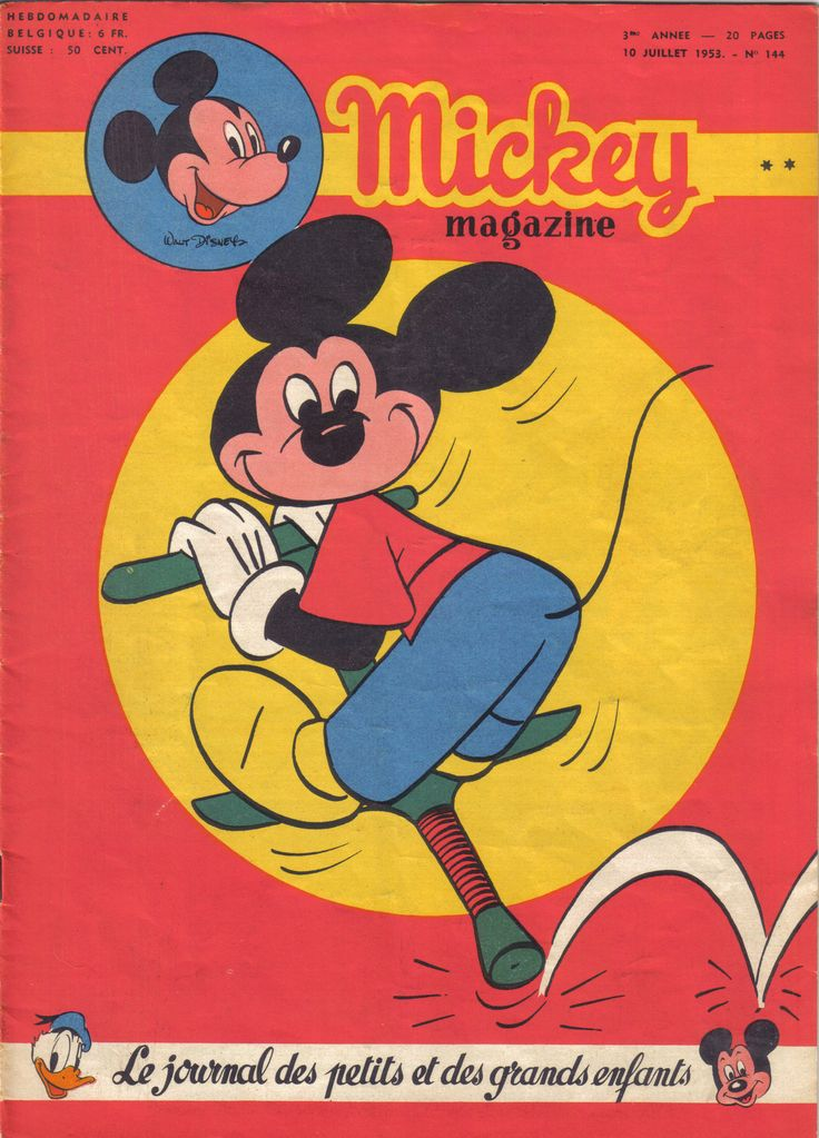Belgium - Mickey magazine (French)  Scanned image of comic book (© Disney) cover