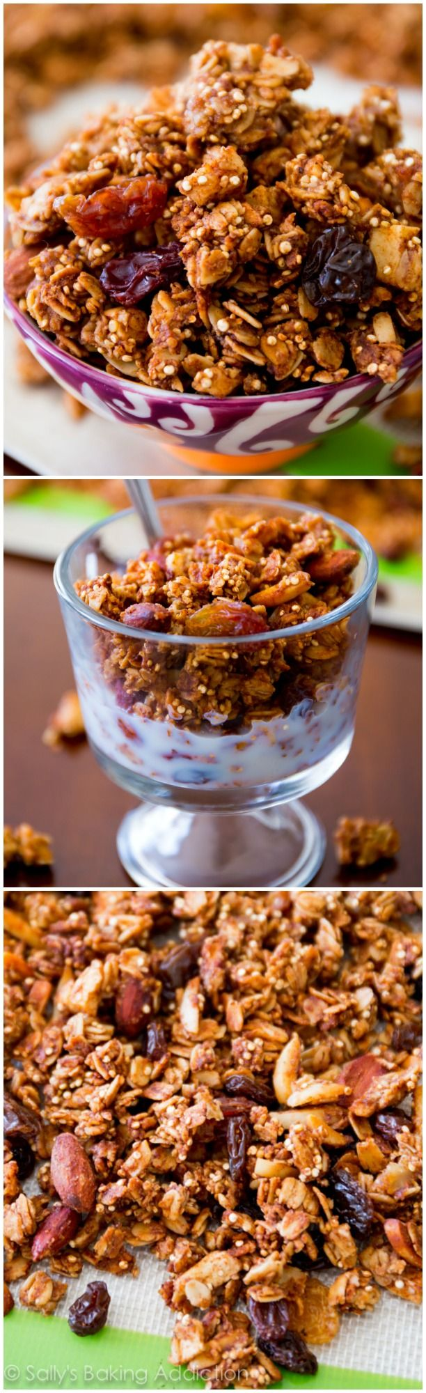 Apple Spice Quinoa Granola