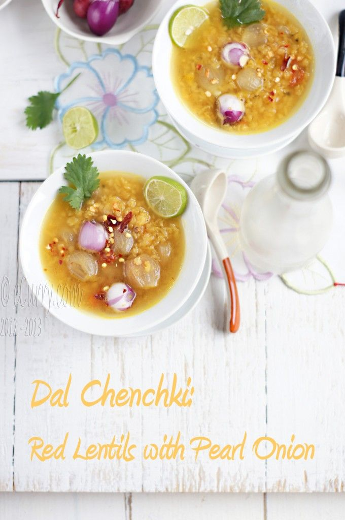 Dal Red Lentils with Pearl Onions | Vegan | Pinterest