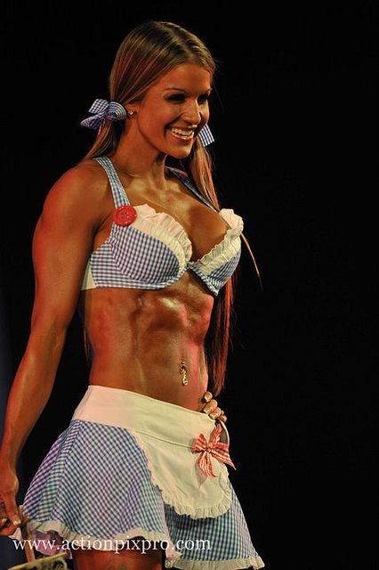 WBFF Pro Fitness Model Diana Chaloux theme wear at World Championships 2010.    Online weight loss programs, fitness model programs, bikini model programs available now at www.HitchFit.com     http://elitegreatness.com/blog/2012/10/19/number-1-secret-to-learning-how-to-build-muscles/