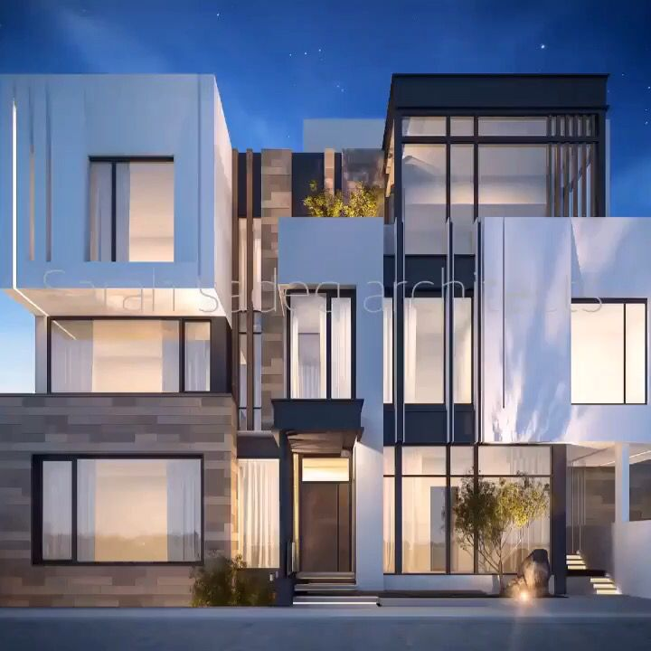 177 best images about sarah sadeq architectes on pinterest for Model facade villa moderne