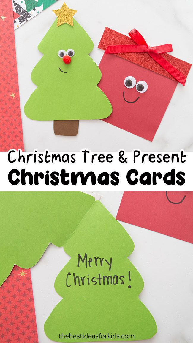 Christmas Tree Card The Best Ideas For Kids Christmas Tree Cards Christmas Cards Kids Simple Christmas Cards