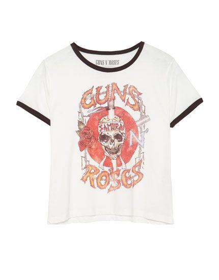 T-shirt Guns N' Roses - T-shirts - Vêtements - Femme - PULL&BEAR Belgique