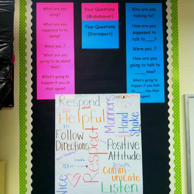 Best 4 questions ever!   Capturing kids hearts social contract and 4 questions for misbehavior and disrespect