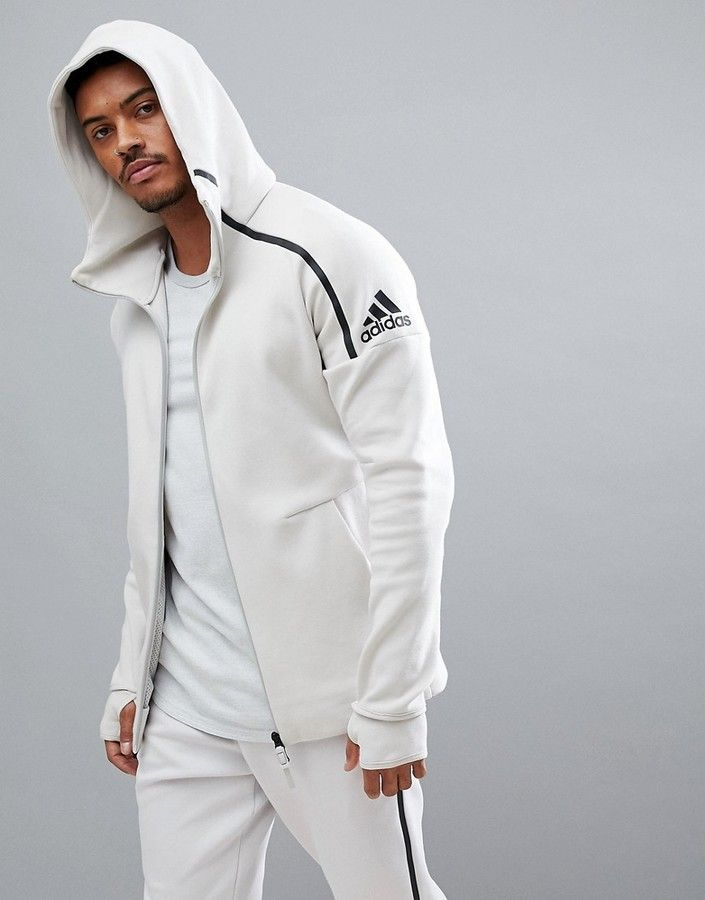 a2331ffca Adidas adidas ZNE 2 Hoodie In Cream CW1347 | Men's Fashion Style in ...