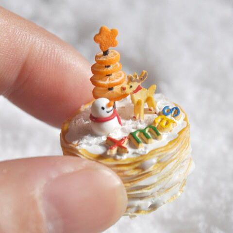 2017.12 Miniature Christmas Cake by Malohaparadise
