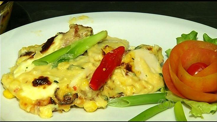 Nordestina, Nádia Souza diz que se encantou com a culinária goiana. Prato foi criado há mais de 50 anos em Quirinópolis, no sul do estado.