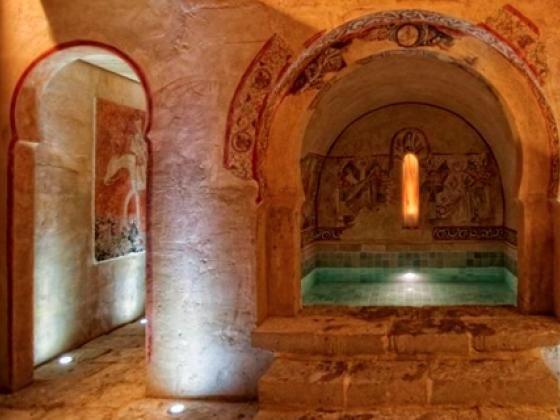 El Hotel Termal de Burgo de Osma es digno de Shhhh, keep it secret! Sobre todo su circuito de contrastes, abierto en un espacio íntimo inspirado en una ermita mozárabe.