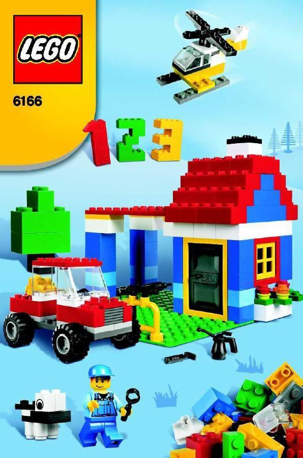 Lego instructions for 6166 lego set (blue box)