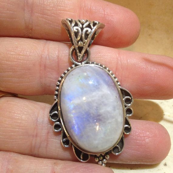 Moonstone Pendant by JessikaDavisEMS on Etsy