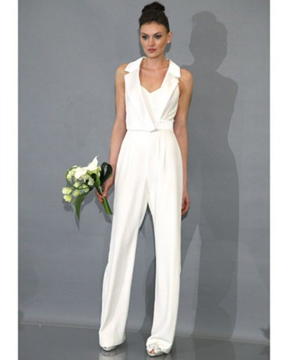 54 best white wedding suits for women images on pinterest for Women s dress pant suits for weddings