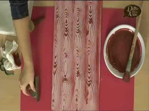 #manidilara Effetto legno - YouTube