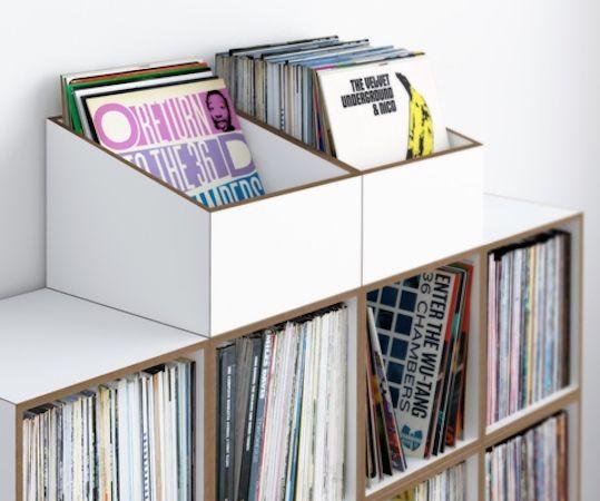 Stocubo Schallplatten Flip Trough Box auf Regalsystem