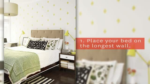 When space is tight, follow these small bedroom arranging tricks for the perfect layout.