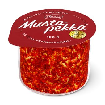 Valio Mustapekka® makea chili leikattava tuorejuusto