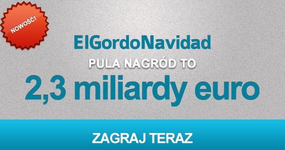Największa hiszpańska loteria El Gordo de Navidad z pulą nagród €2 300 000 000 teraz dostępna na PlayHugeLottos.com.