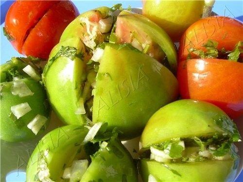 25 рецептов зеленых помидор. Соленые, понравился рецепт. Зелёные фаршированные помидоры солёные