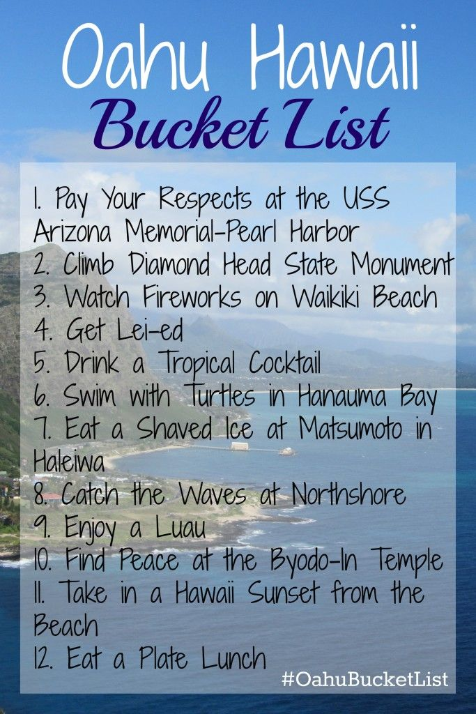 Oahu Hawaii Bucket List; the must do on the island of Oahu; things to do on Oahu #oahubucketlist | mybigfathappylife.com #TimeTraveller