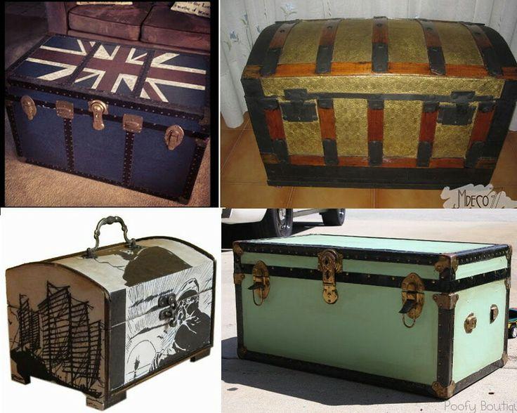 Baules reciclados muebles pinterest for Muebles reciclados para un estilo industrial