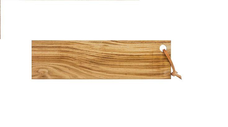 Broodplank met leer van Hylke van Niel - Speciaal gemaakt voor Hippie Chic, van lokaal hout. Mooie eyecatcher voor in de keuken. www.hippiechic.nl
