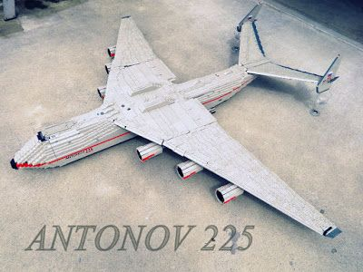 Tiles or Studs: Military Transport Plane: Antonov 225
