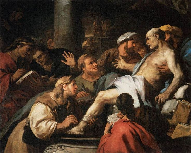 """The Stoics pointed to two principal sources of human unhappiness—our insatiability and our tendency to worry about things beyond our control—and they developed techniques for removing these sources of unhappiness from our life."" -- William B. Irvine #Stoicism #StoicWeek2014 #philosophy (Image: Death of Seneca, by Luca Giordano. Public domain via Wikimedia Commons)"