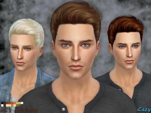 The Sims Resource: Nicholas Hairstyle by Cazy • Sims 4 Downloads