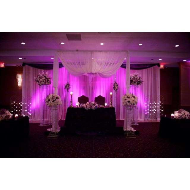342 best wedding gazebo and arches images on pinterest receptions chiffon canopy with purple lighting flowersbyamore purple lighting wedding junglespirit Image collections