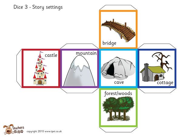 Teacher's Pet - Fairy tale story telling dice (with words) - FREE Classroom Display Resource - EYFS, KS1, KS2, fairytale, traditional, tales, tale, story, writing, dice, cubes, setting, characters
