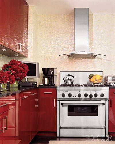 Red Tile Kitchen: 113 Best Red, Pink & Purple Kitchens & Baths Images On