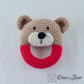 Sonajero oso oval