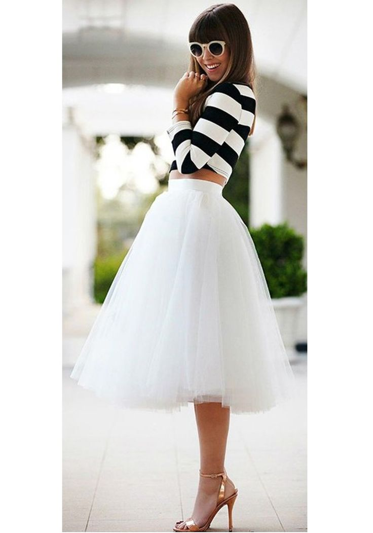 jupe uni tutu en tulle drap adorable haute cintr e cute mode blanc femme tutu en tulle mode. Black Bedroom Furniture Sets. Home Design Ideas