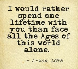 Having a Tolkien themed wedding ceremony?  Love this quote!