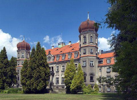 Pałac w Brynku, niedaleko Tarnowskich Gór, zbudowany został w 1829 roku i powiększany w 1872 roku wg projektu Carla Johana Luedckego. Obok znajduje się kaplica pałacowa z XIX wieku i kompleks zabudowań z domem ogrodnika, wartownią, wozownią, wieżą wodną oraz stajniami z ujeżdżalnią. Całość otacza piękny park krajobrazowy.
