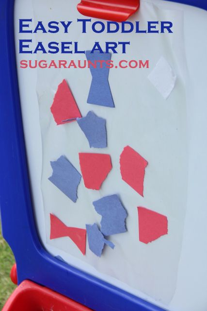 Paper scraps and contact paper...easy Toddler Art! Could easily modify for many activities.