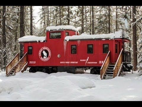 25) Someone Turned This Caboose Into A Perfect Little Home