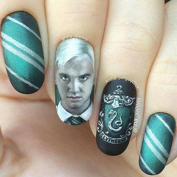 Diese Nägel mit dem Bild von Harry Potter sind pure Magie