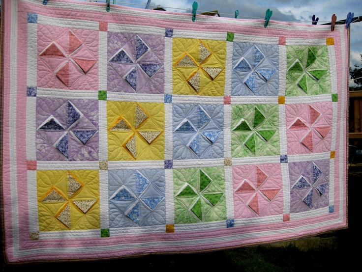 Peek a Boo quilt for Summers 2nd birthday