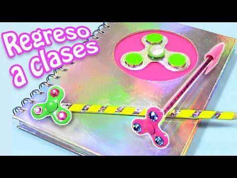 UTILES ESCOLARES DIVERTIDOS! Llévate los spinners a clase! DIY REGRESO A CLASES - YouTube